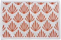 Tan Living Bath mat Coral Oranye