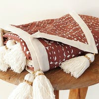 Tan Living Selimut Sashiko Pale Burgundy