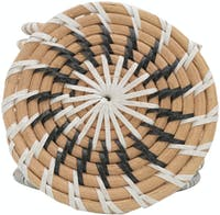 Tan Living Drink Coaster Round Natura Black