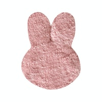The Alice's Place Karpet Bunny Head 25x35cm Pink