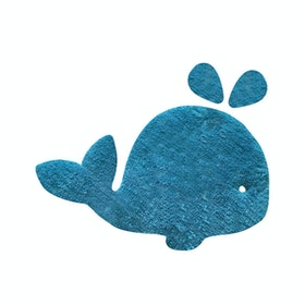 The Alice's Place Karpet Whale 50x75cm Blue