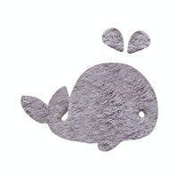The Alice's Place Karpet Whale 50x75cm Grey