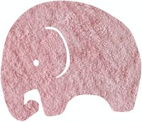 The Alice's Place Karpet Elephant 50x60cm Pink