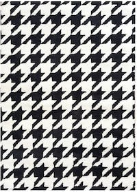 Vision Pop Houndstooth 110 x 160 cm Black White