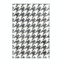 Vision Pop Houndstooth 180 x 270 cm Grey White