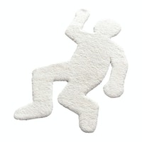 Alices Place Crime Scene Rug 85 x 155 cm White