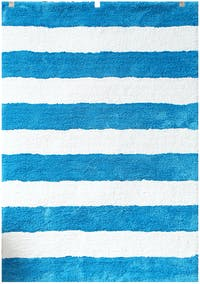 Vision Soft Shaggy Stripes 110 x 160 cm Blue
