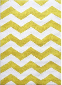 Vision Soft Shaggy Chevron 160 x 220 cm Yellow