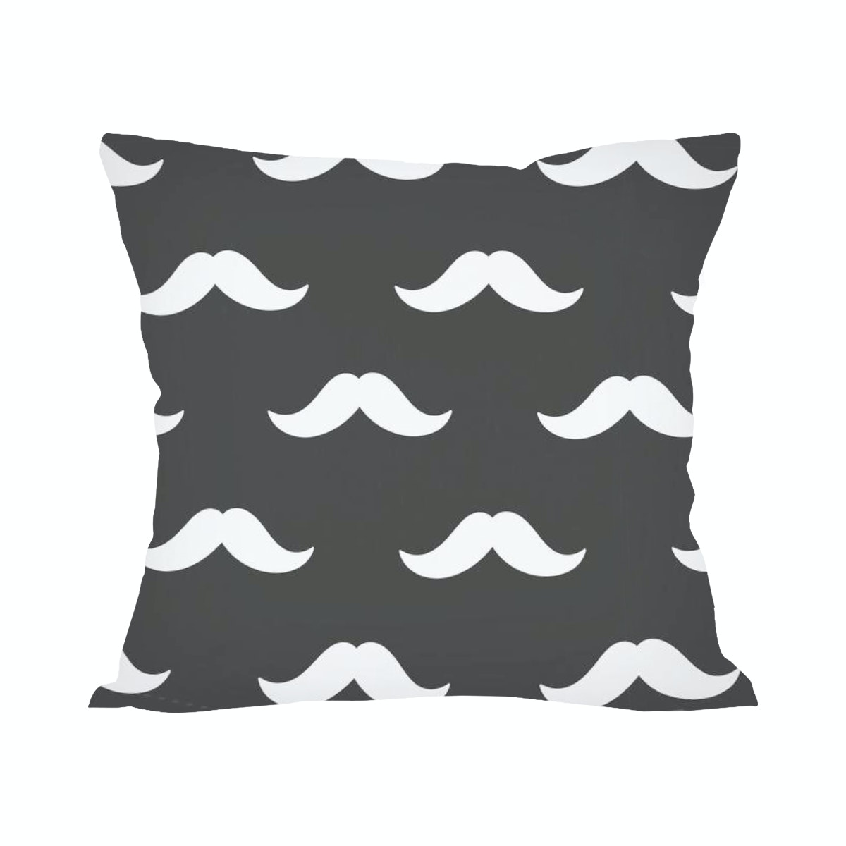 Tees Pillow Mustache Pattern (Insert+Cushion Cover 40X40Cm)