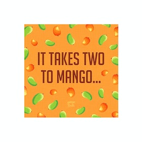 Tees Two To Mango Canvas Print 15X15Cm (Poster)
