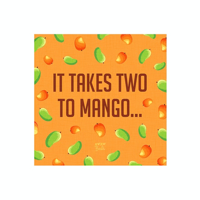 Tees Two To Mango Canvas Print 30X30Cm (Poster)