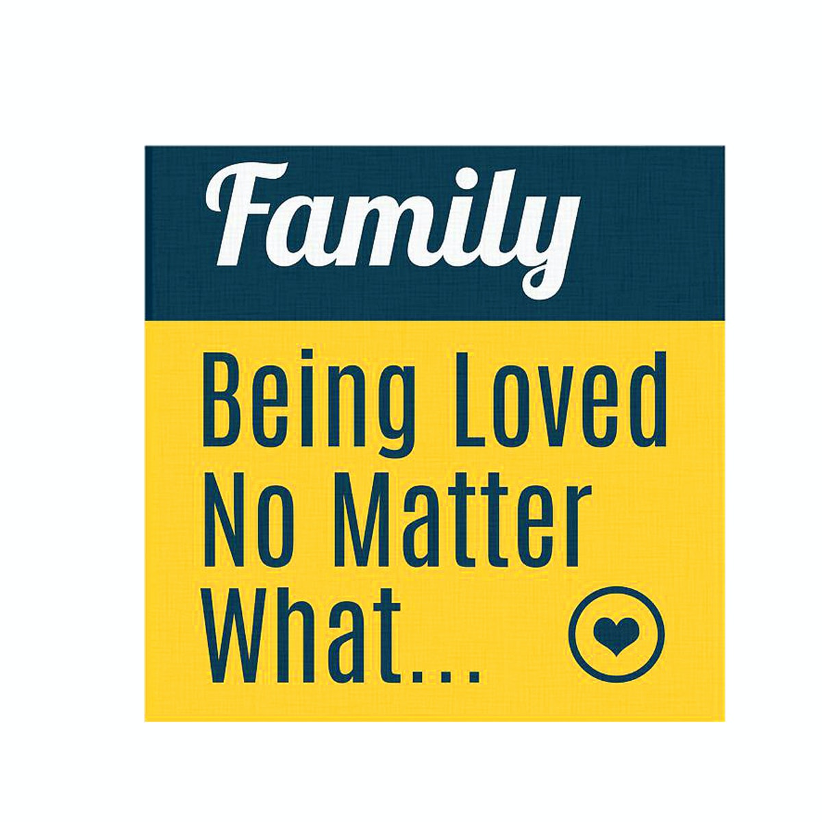 Tees Family Being Loved No Matter What 15X15Cm (Poster)