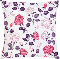 Tees Vintage Flowers Pillow (Insert+Cushion Cover 40X40Cm)