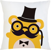 Tees Hipster Bear (Insert+Cushion Cover 40X40Cm)