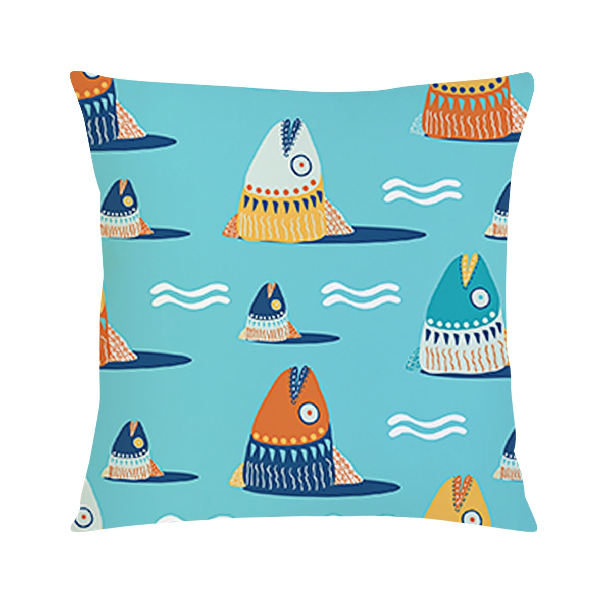 Tees Let's Fishing (Insert+Cushion Cover 40X40Cm)
