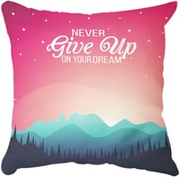 Tees Never Give Up (Insert+Cusion Cover 40X40cm)