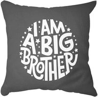 Tees I Am A Big Brother (White Text) (Insert+Cusion Cover 40X40cm)