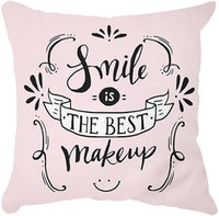 Tees Smile Is The Best Makeup (Insert+Cusion Cover 40X40cm)