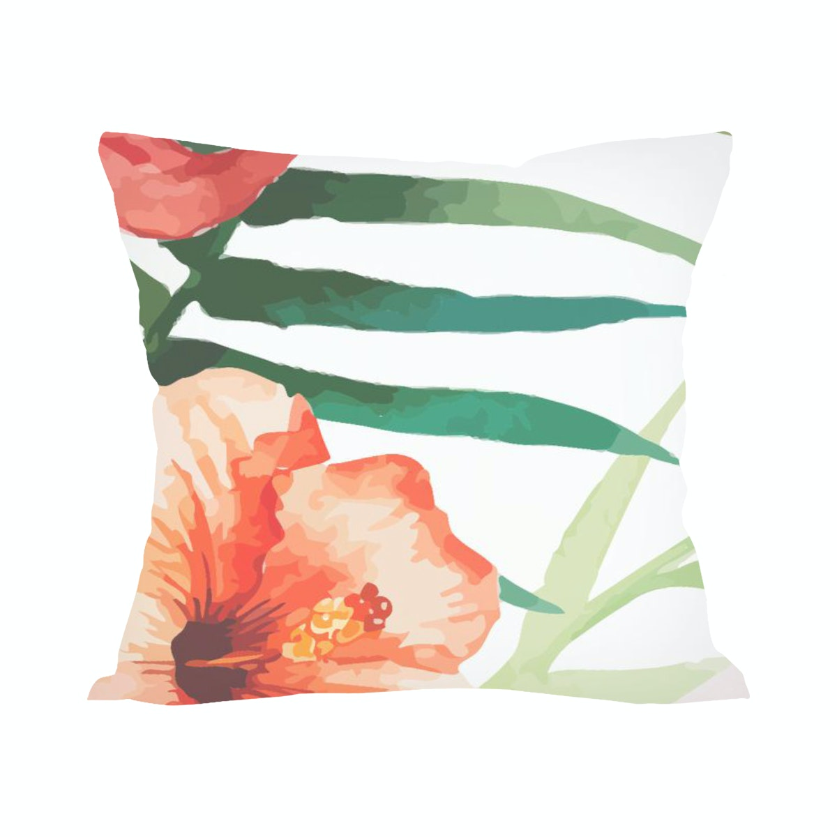 Tees Watercolor Flower (Insert+Cushion Cover 40X40Cm)
