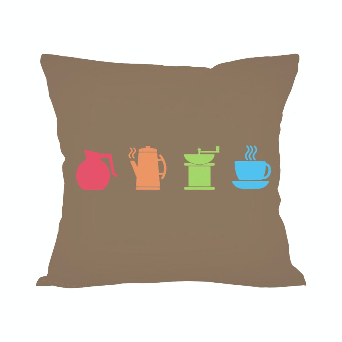 Tees Coffee Icon (Insert+Cushion Cover 40X40Cm)