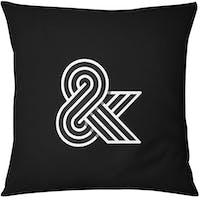 Tees Cushion Motif Ampersand