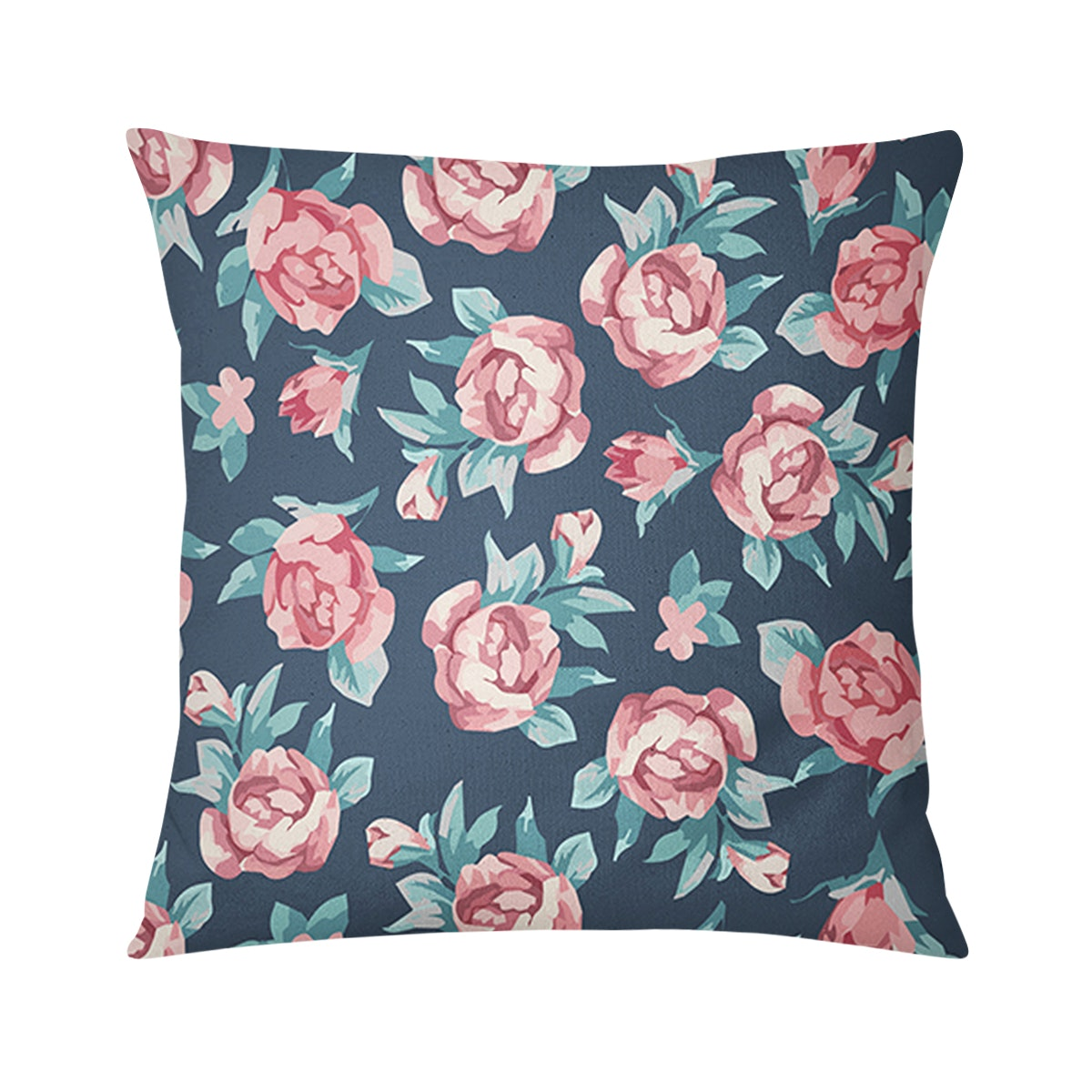 Tees Cushion Motif Hand Painted Flower