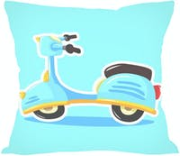 Tees Vespa Toon (Insert+Cushion Cover 40X40Cm)