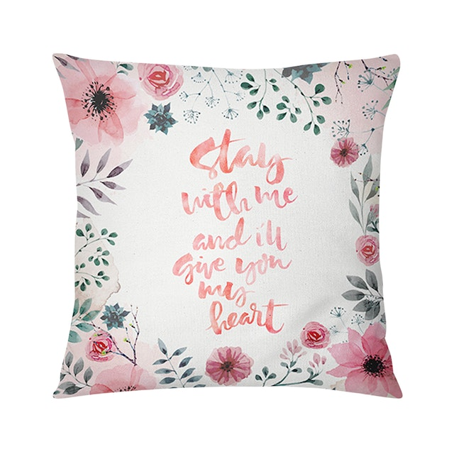 Tees Cushion Motif Bantal Stay With Me And I'll Give You My Hearth