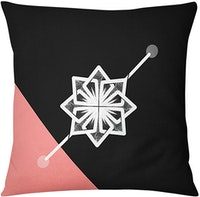 Tees Cushion Motif geometric Flower Pillow