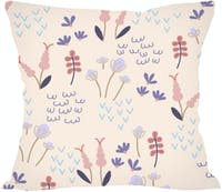 Tees Sweet Morning Glory - Bunga Pink Ungu (Insert+Cushion Cover 40X40Cm)