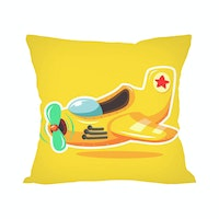 Tees Pesawat Toon (Insert+Cushion Cover 40X40Cm)