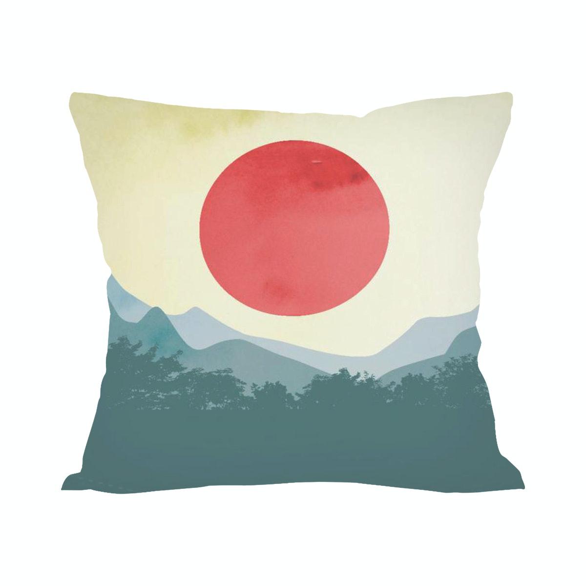 Tees Red Sun (Insert+Cushion Cover 40X40Cm)