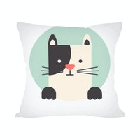 Tees Cats Family (Insert+Cushion Cover 40X40Cm)
