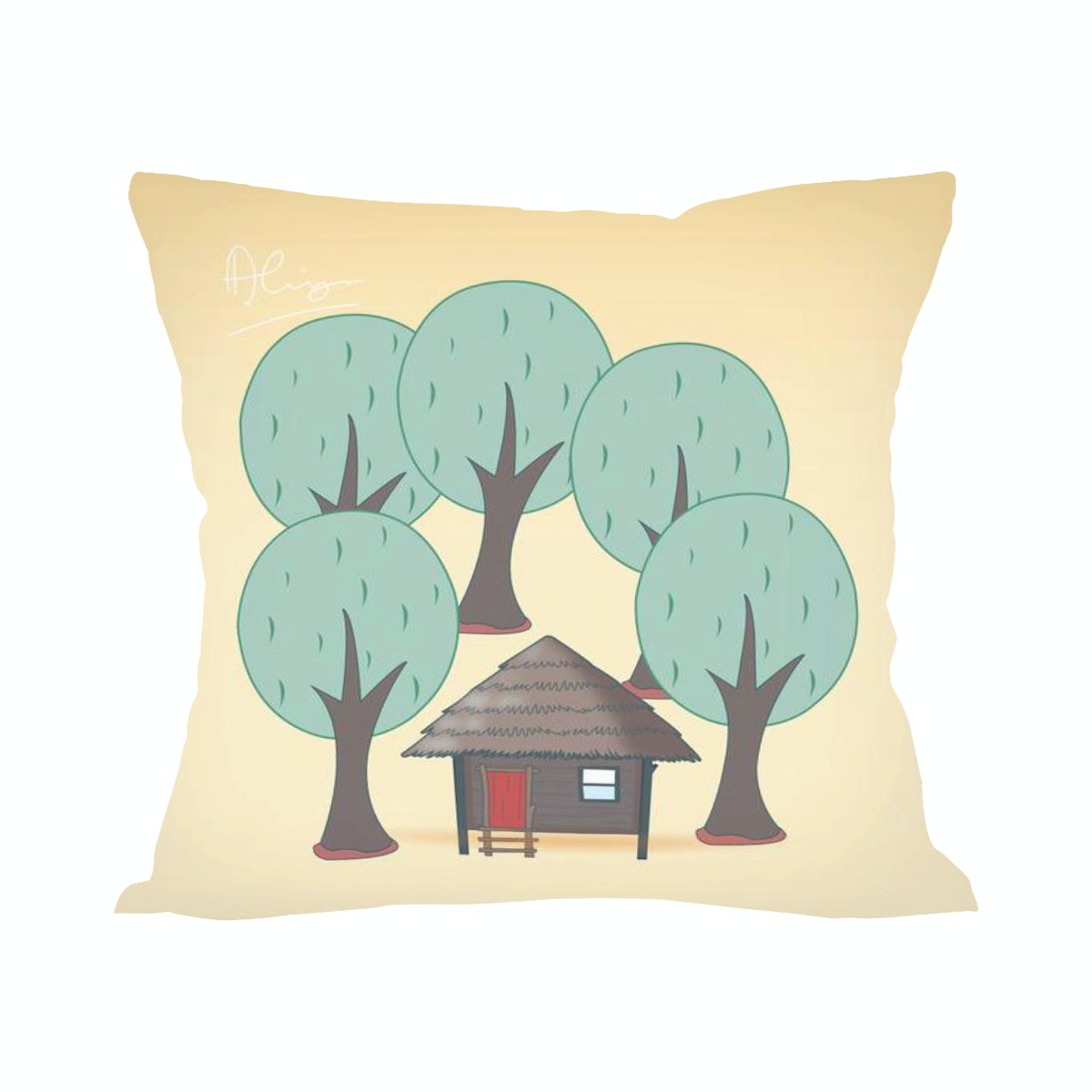 Tees Home Pillow (Insert+Cushion Cover 40X40Cm)