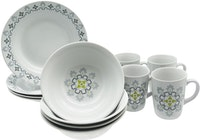 Tafel21 Dinner Set Batik Grey 12 pcs/set