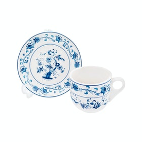 Tafel21 Cangkir Set Blue Oriental Flowers 12 pcs/set
