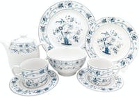 Kopin Dinner Set Blue Oriental Ming 22 pcs/Set