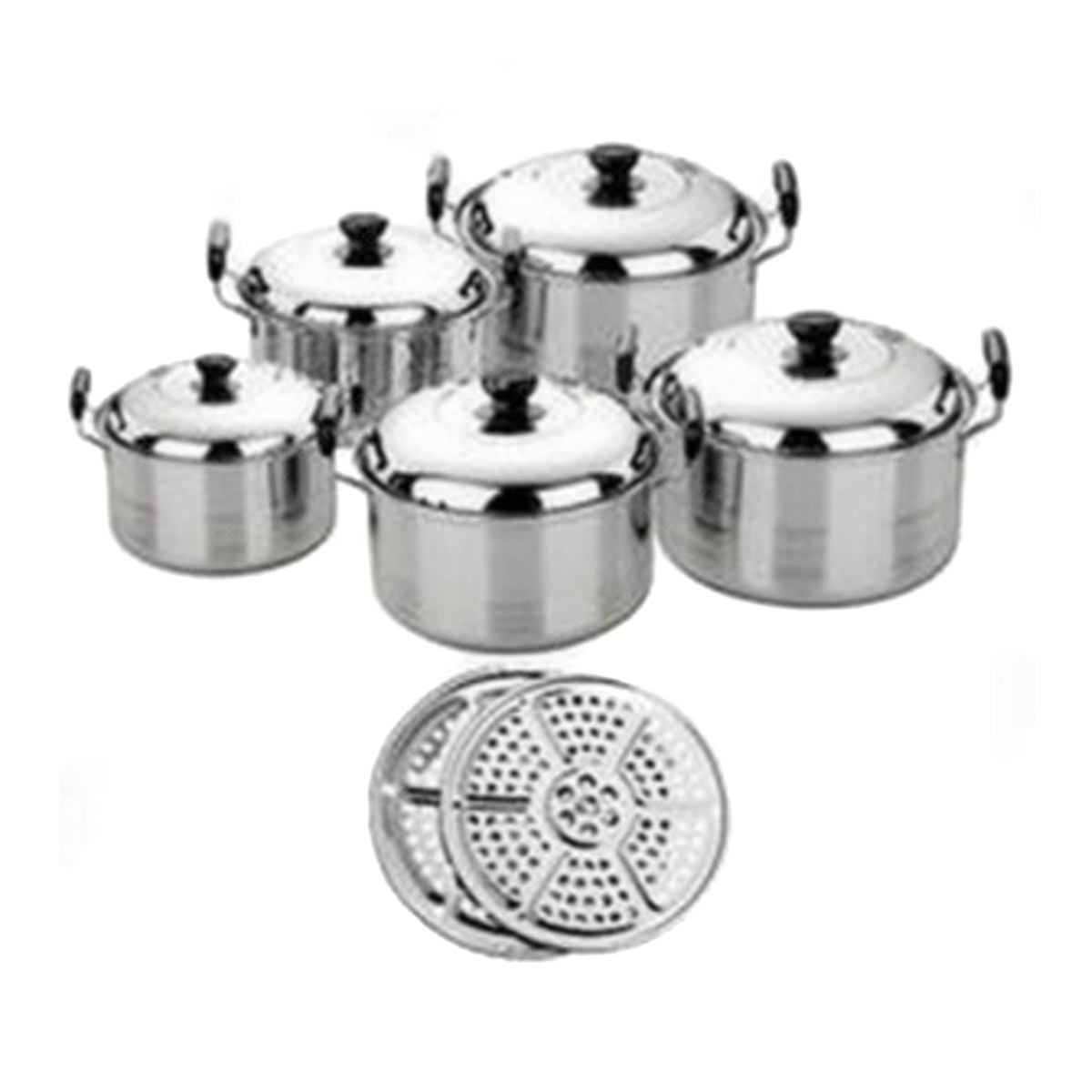 Weston Dutch Oven Set 5 Pcs W1X-DSS5 With Steamer