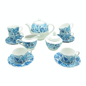 Kopin Coffee Set Batik Jawa Biru 17 pcs/set