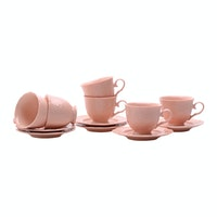 Weston Cangkir Set/Tea Set Rose Flower Baby Pink 12 pcs/set