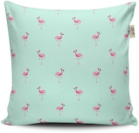 The Happy Camper Mini Flamingo Cushion Cover 40x40cm