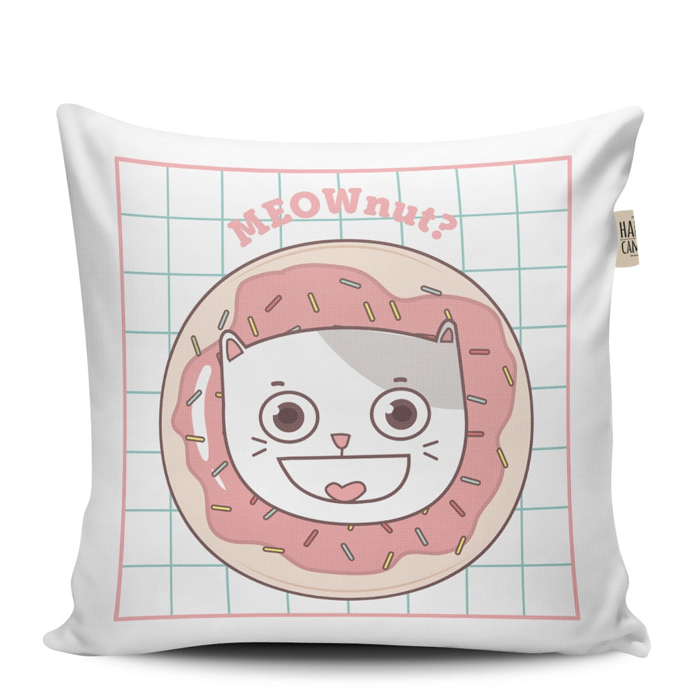 The Happy Camper Meownut Cushion Cover