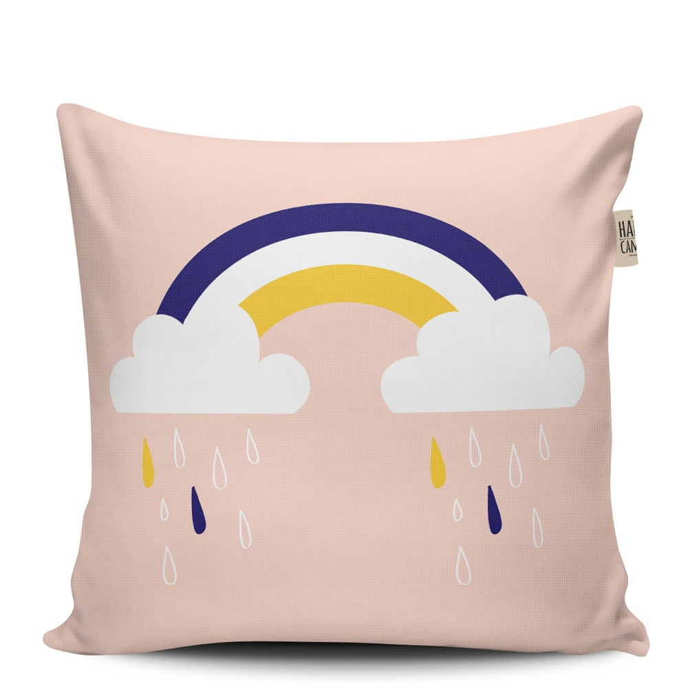 The Happy Camper Big Rainy Clouds Cushion Cover