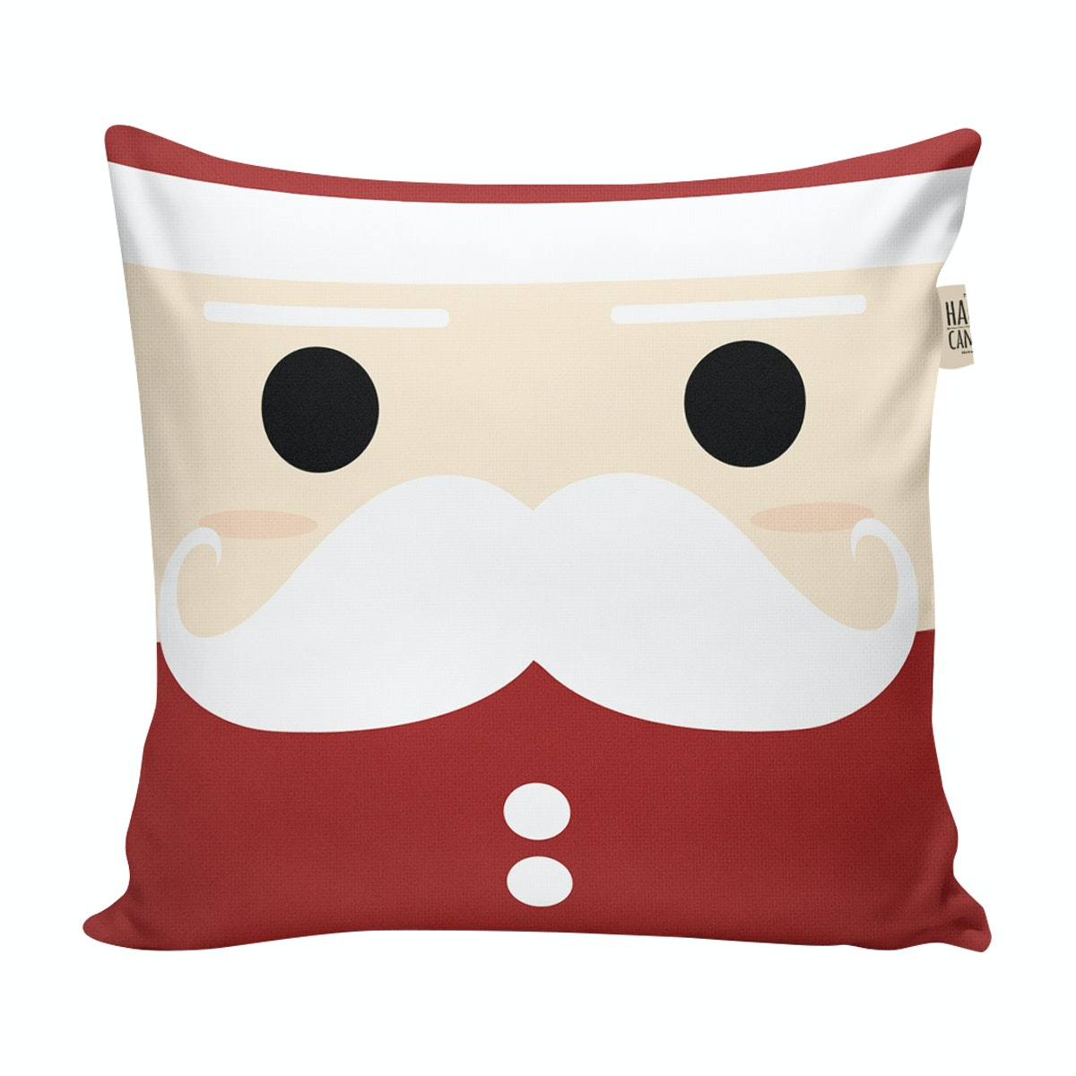 The Happy Camper Christmas Santa - cushion cover