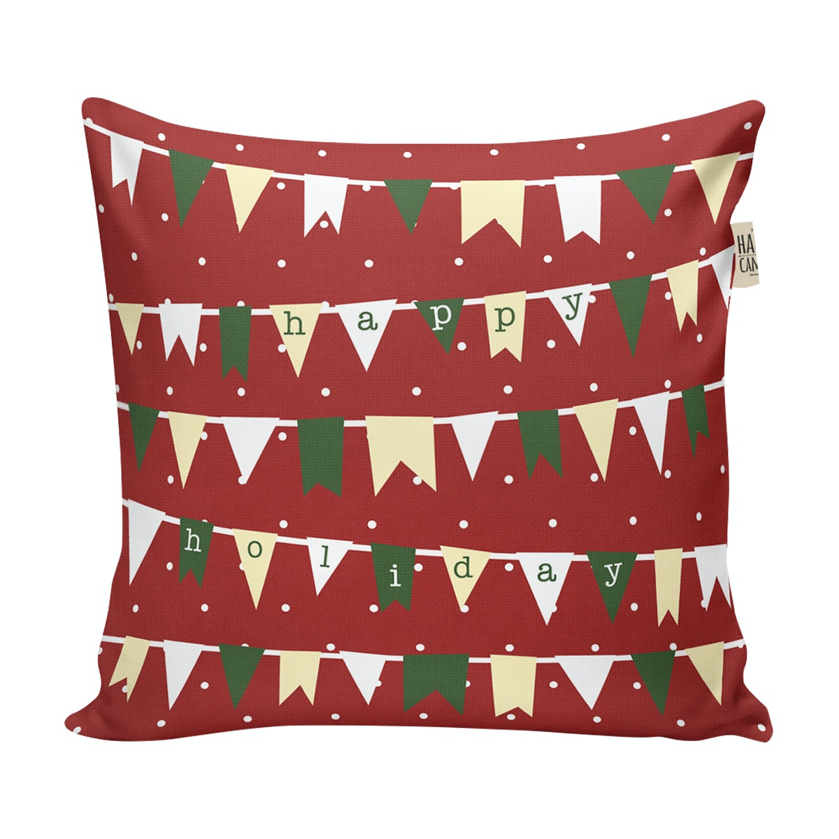 The Happy Camper Christmas Holiday - cushion cover