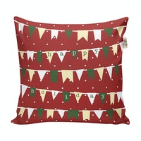 The Happy Camper Christmas Holiday Cushion Cover 40x40cm