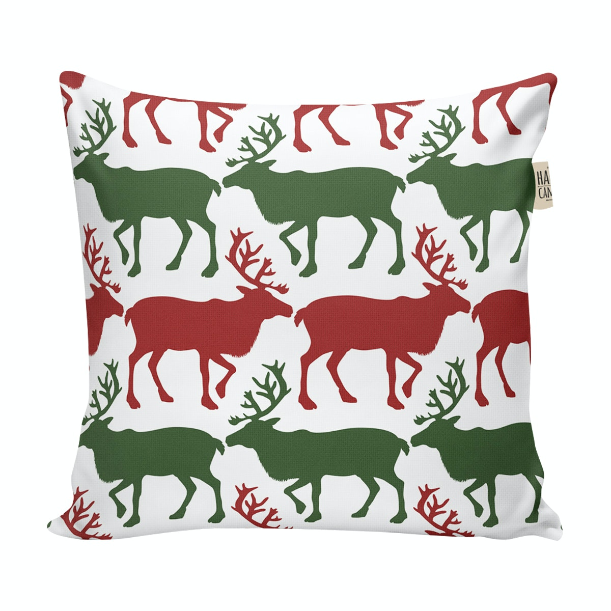 The Happy Camper Christmas Reindeer - cushion cover