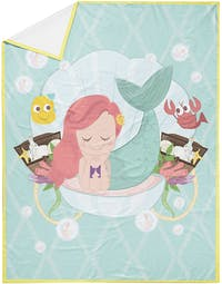 The Happy Camper Under the Sea Travel Throw Blanket