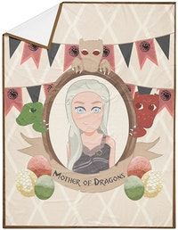 The Happy Camper Mother of Dragons Travel Throw Blanket