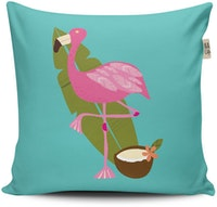 The Happy Camper Big Flamingo Cushion 40x40cm